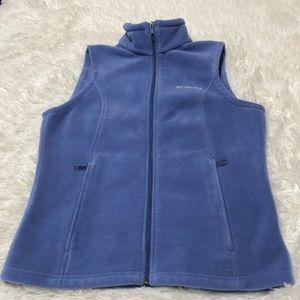 Columbia Blue Fleece Vest